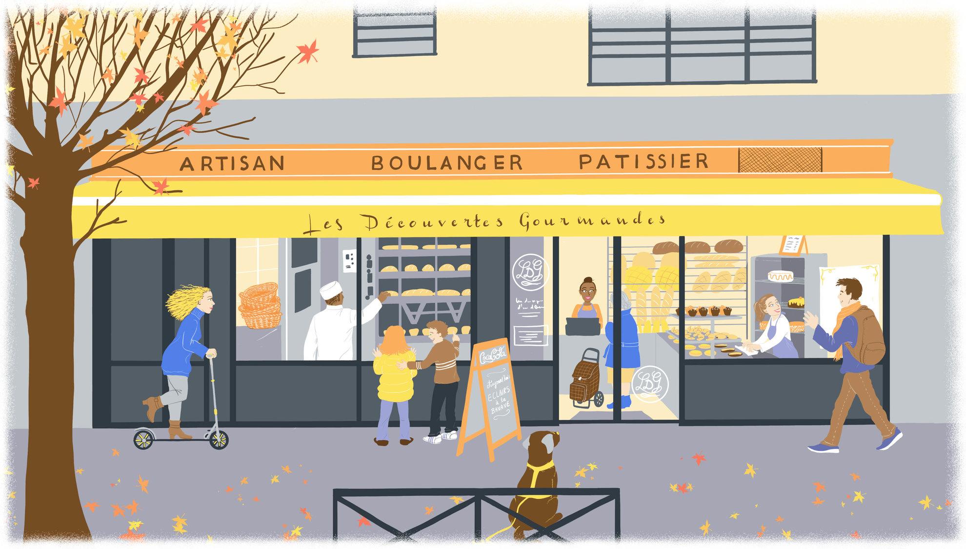 Scène de rue - La boulangerie