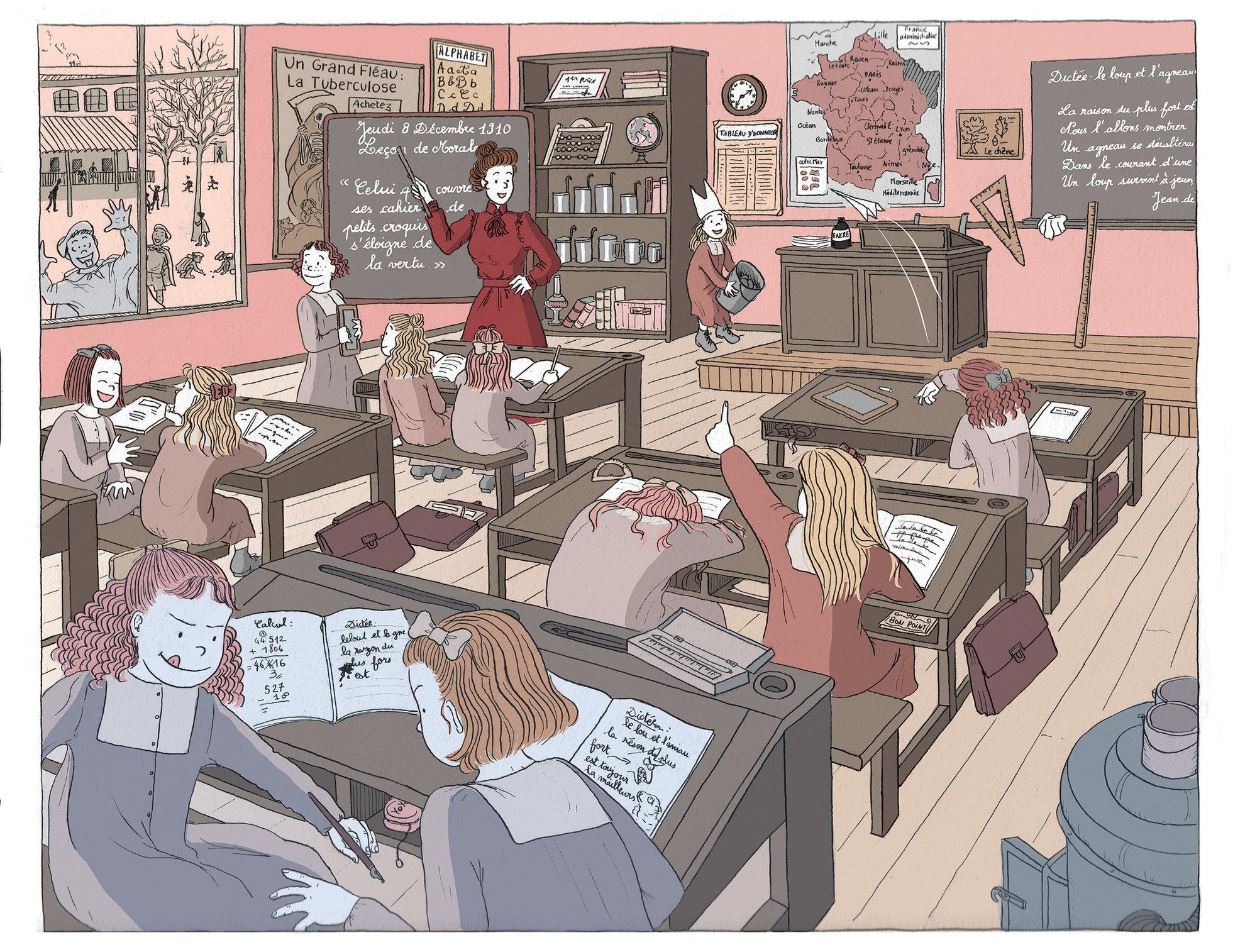 Début du XXeme siècle - Une classe en 1910