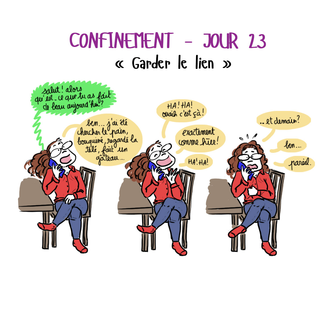 Journal de confinement - jour 23