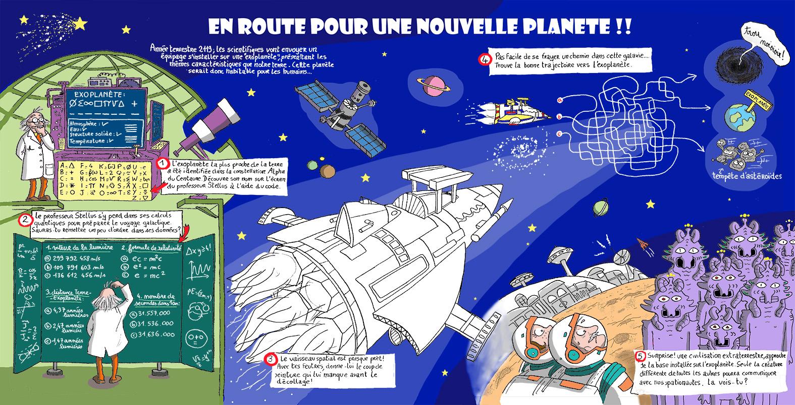 """Activités pédagogiques - Page de Jeux """"En avant pour une autre planète"""""""