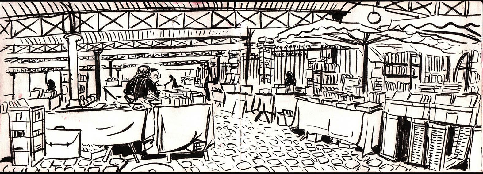 Le marché aux livres à Paris