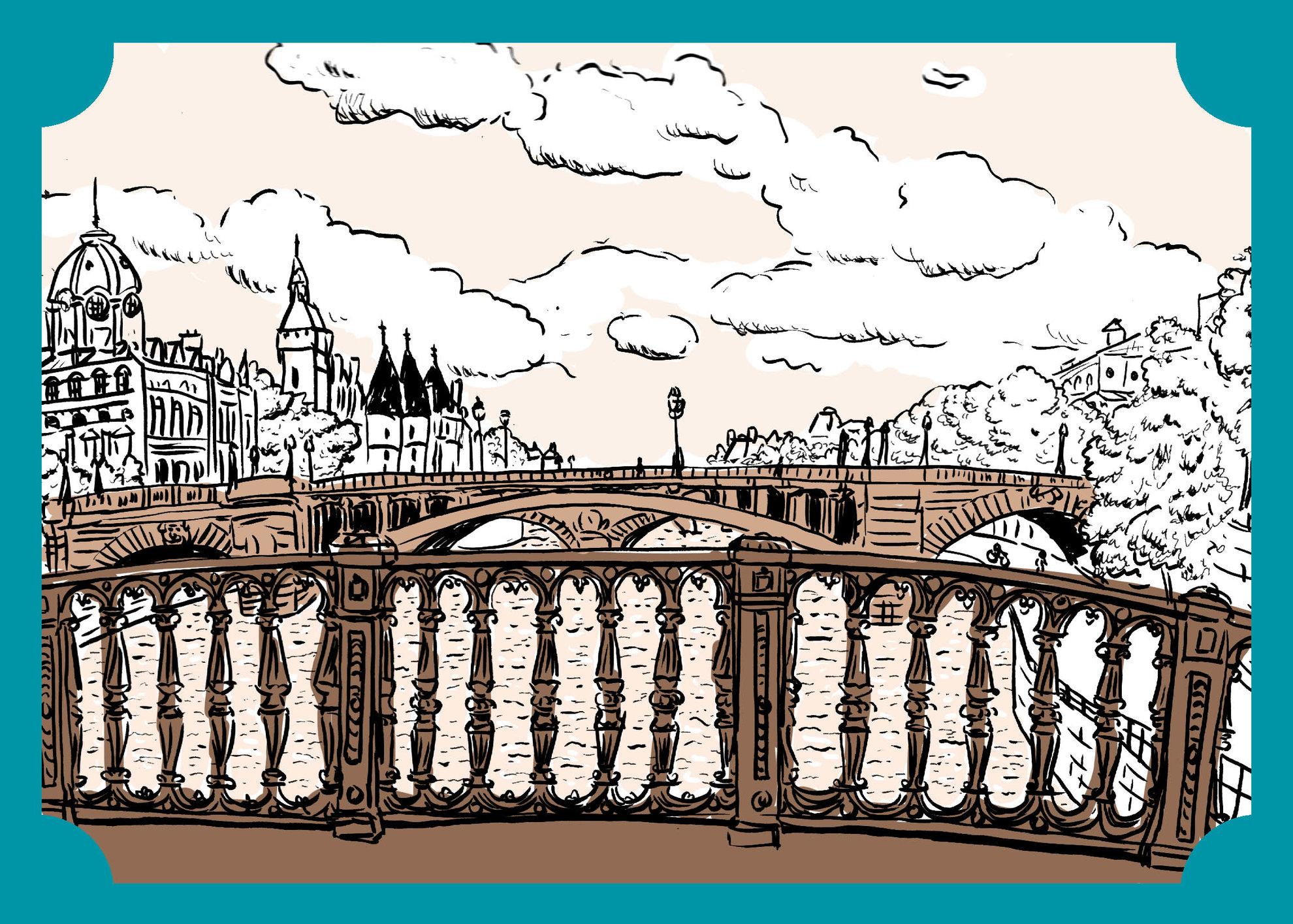 Vues de Paris - La Seine et ses ponts