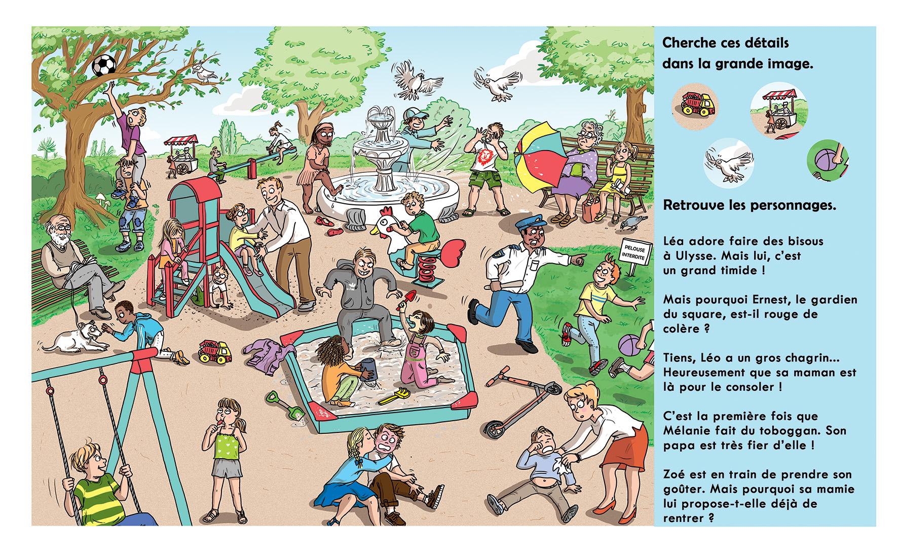 """Activités pédagogiques - Jeu """"Cherche et trouve au square"""""""