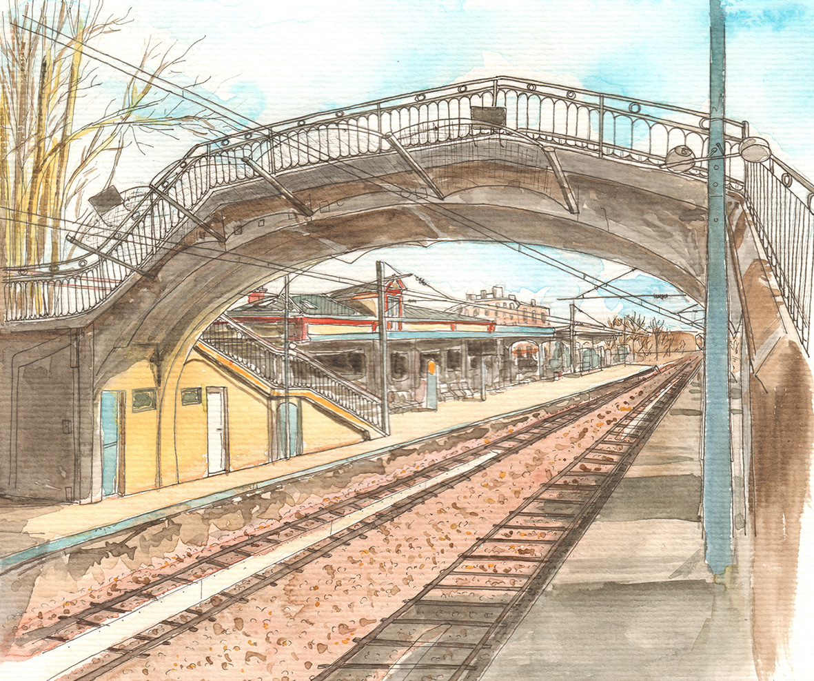 La gare de Viroflay Rive Droite