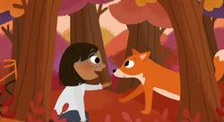 """Ella et le renard"" / ""Ella and the fox"" - Allison Hornung-illustrateur jeunesse"
