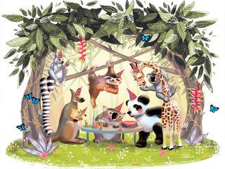 Party in a rainforestt