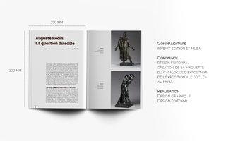 Maquette du catalogue d'exposition du Muba