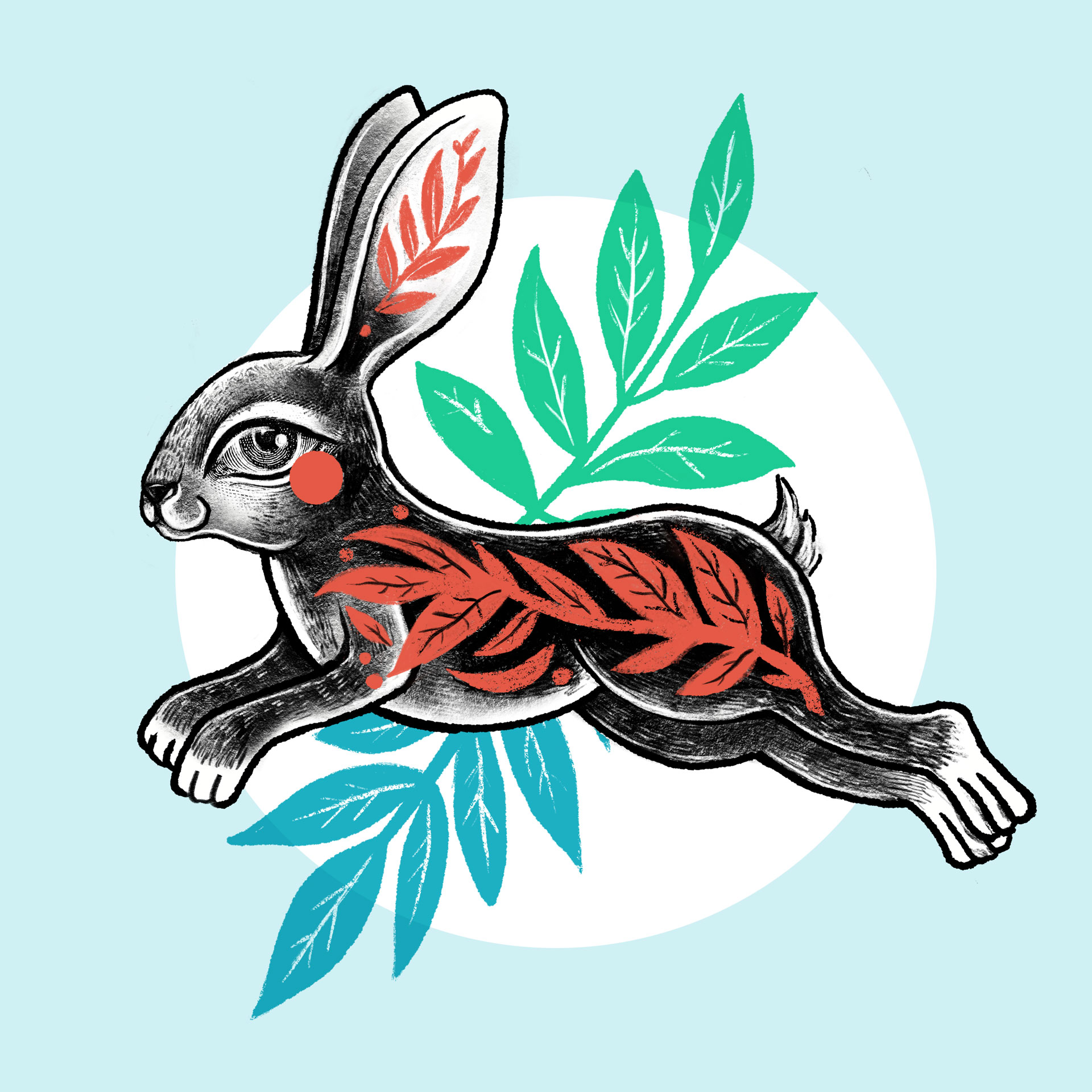 Motif petit lapin