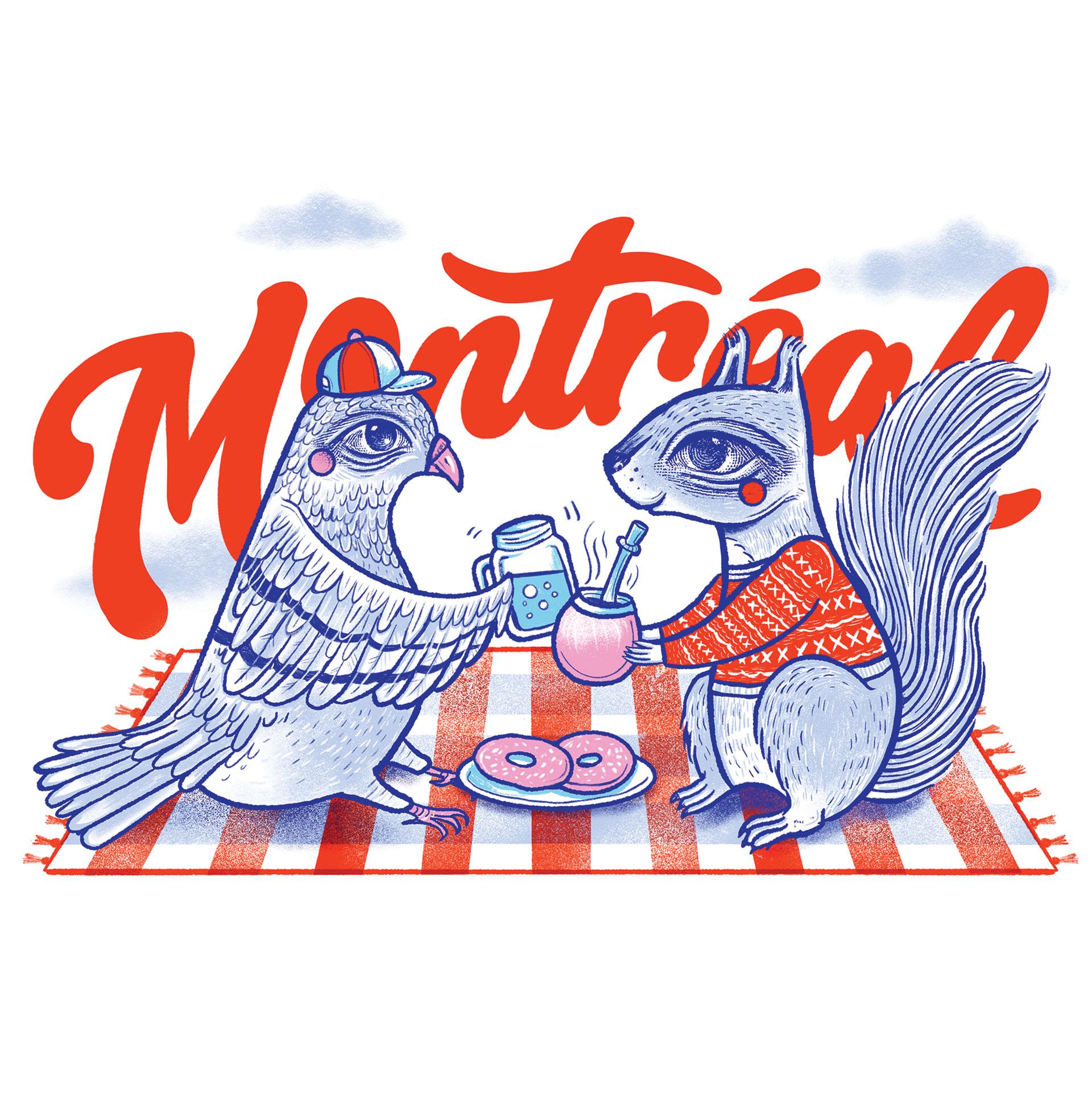 Carte postale pour Montréal en couleurs