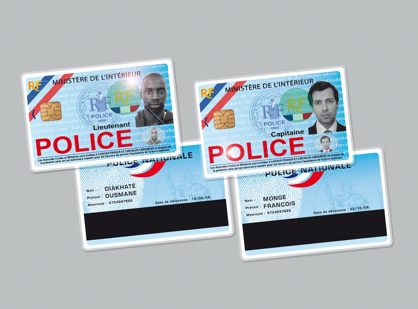Film De l'autre côté du périph / Décors / Carte de police