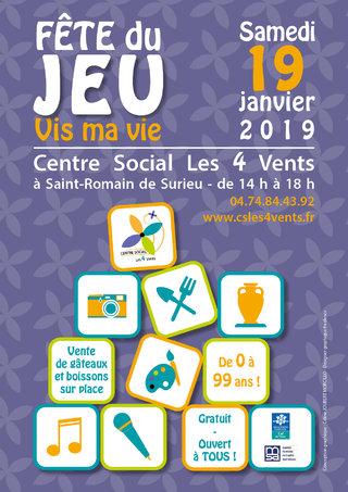 Fête du jeu 2019 - affiche pour centre social