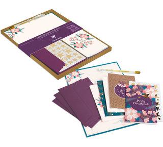 Set de correspondance - réalisation des cartes/papier à lettre/fourreau