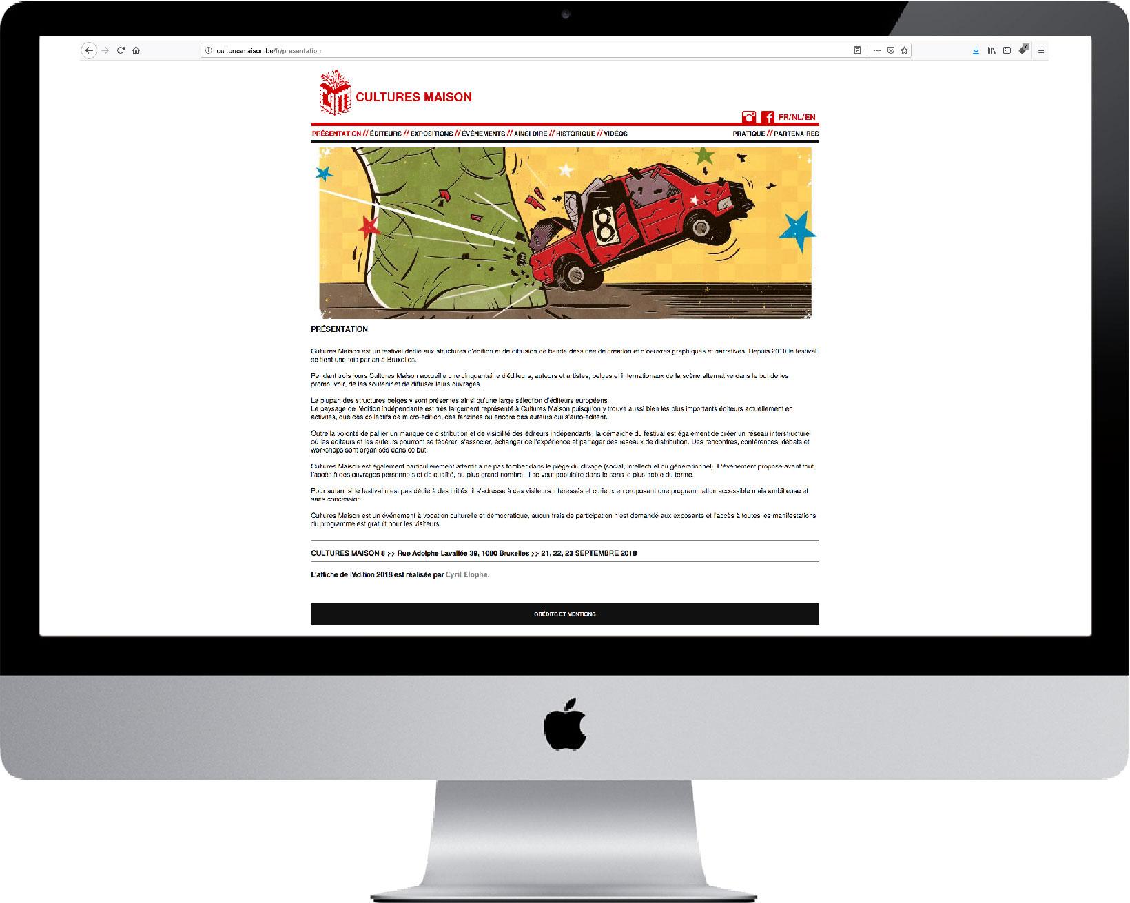 Cultures Maison :: Web design 2013 - 2018
