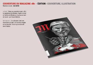 "Couverture magazine ""M"""