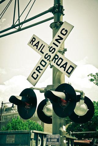 Crossing rail Road in Boston