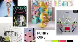 Funky Girl mood board - Claire Koerner