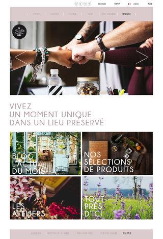 Page d'accueil du site Le Jardin de Lens