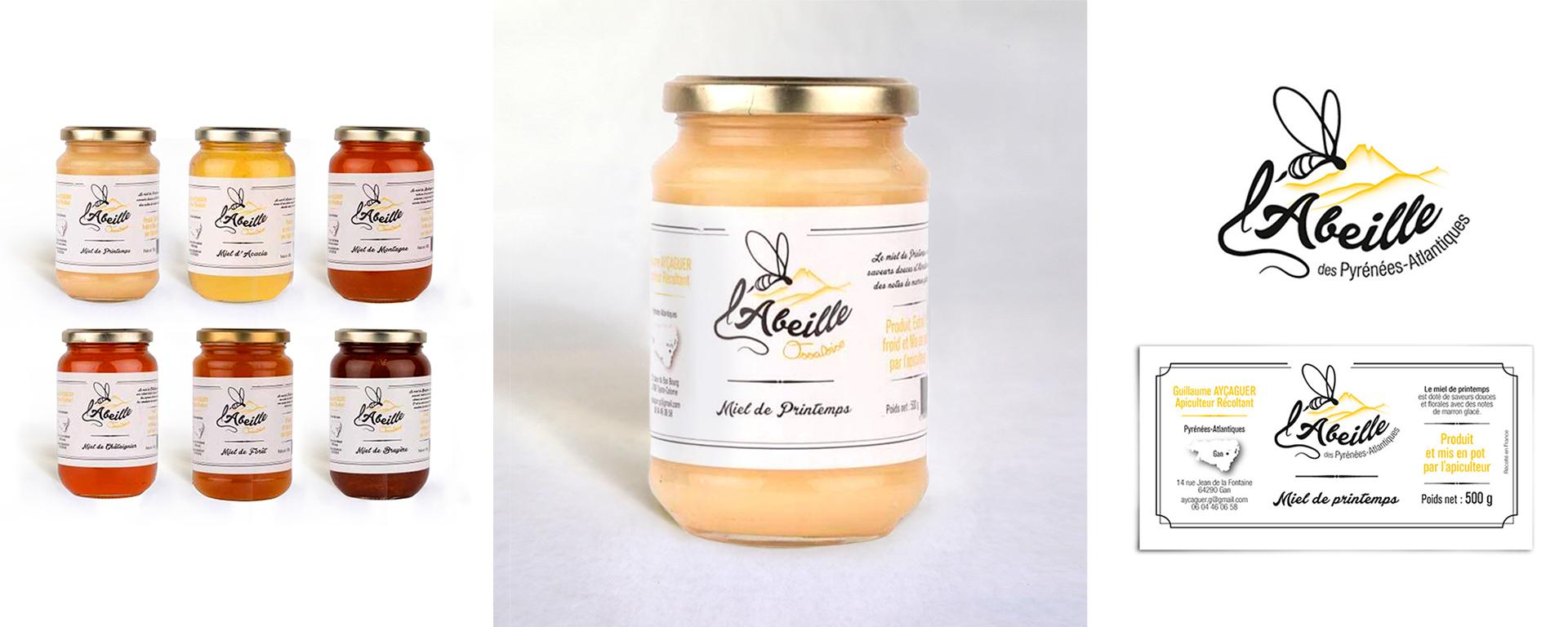 Design Logo et étiquette pour du miel des Pyrénnées