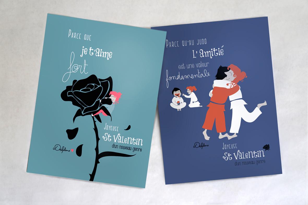 Illustration vectorielle - cartes St Valentin