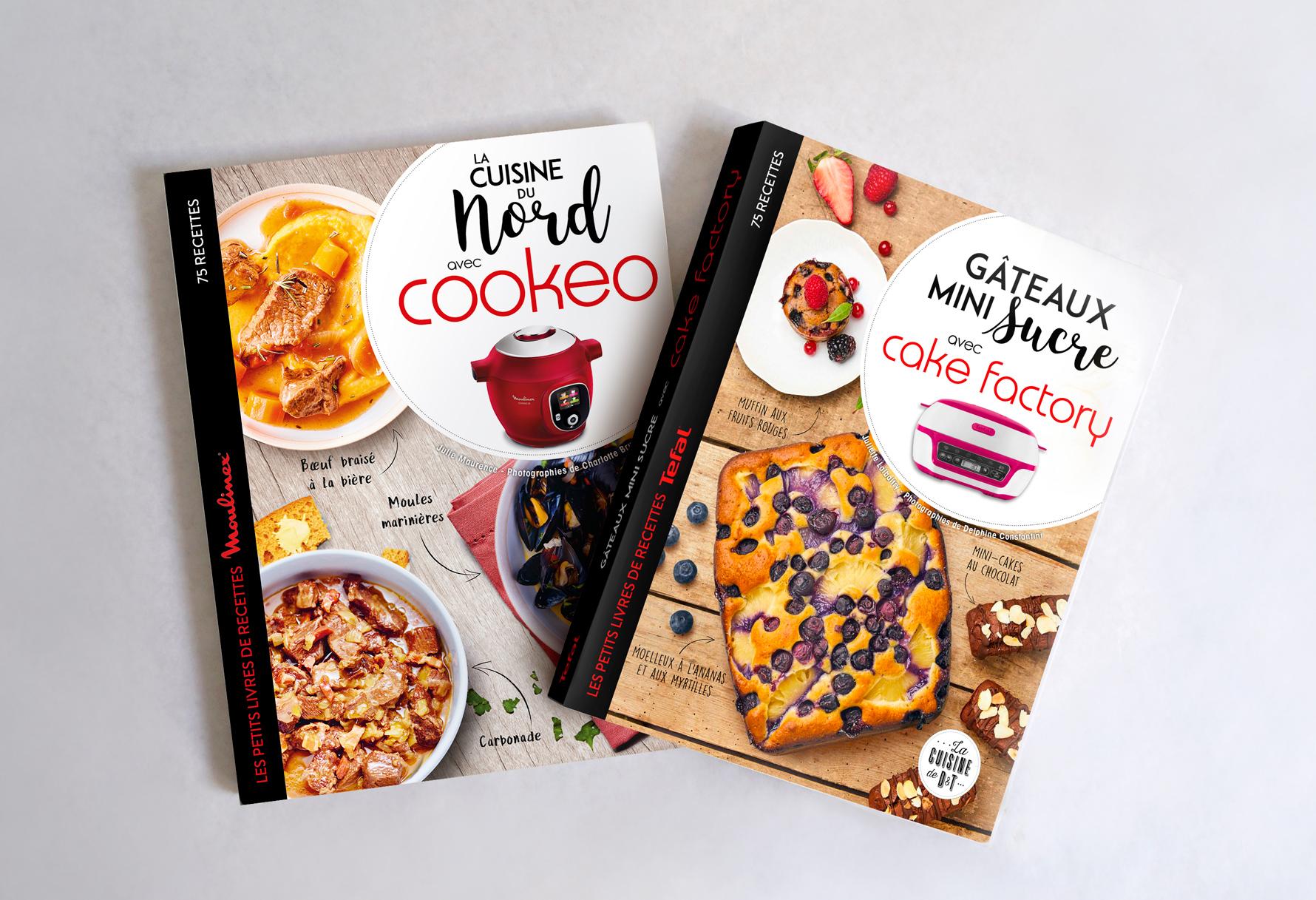 Couvertures de livres de cuisine Téfal et Moulinex - éditions Larousse