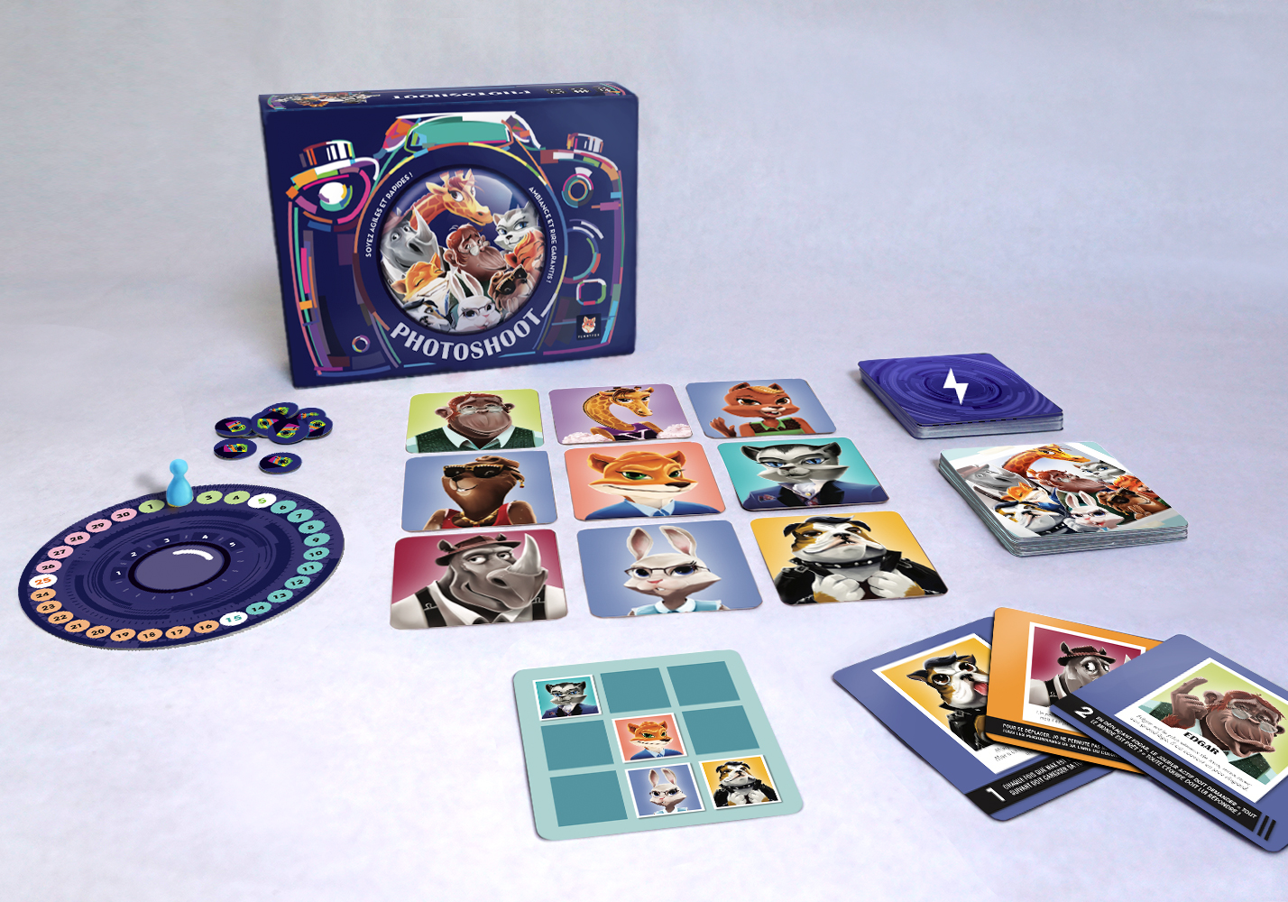 Design et conception jeu de société - Photoshoot - pour Funny Fox