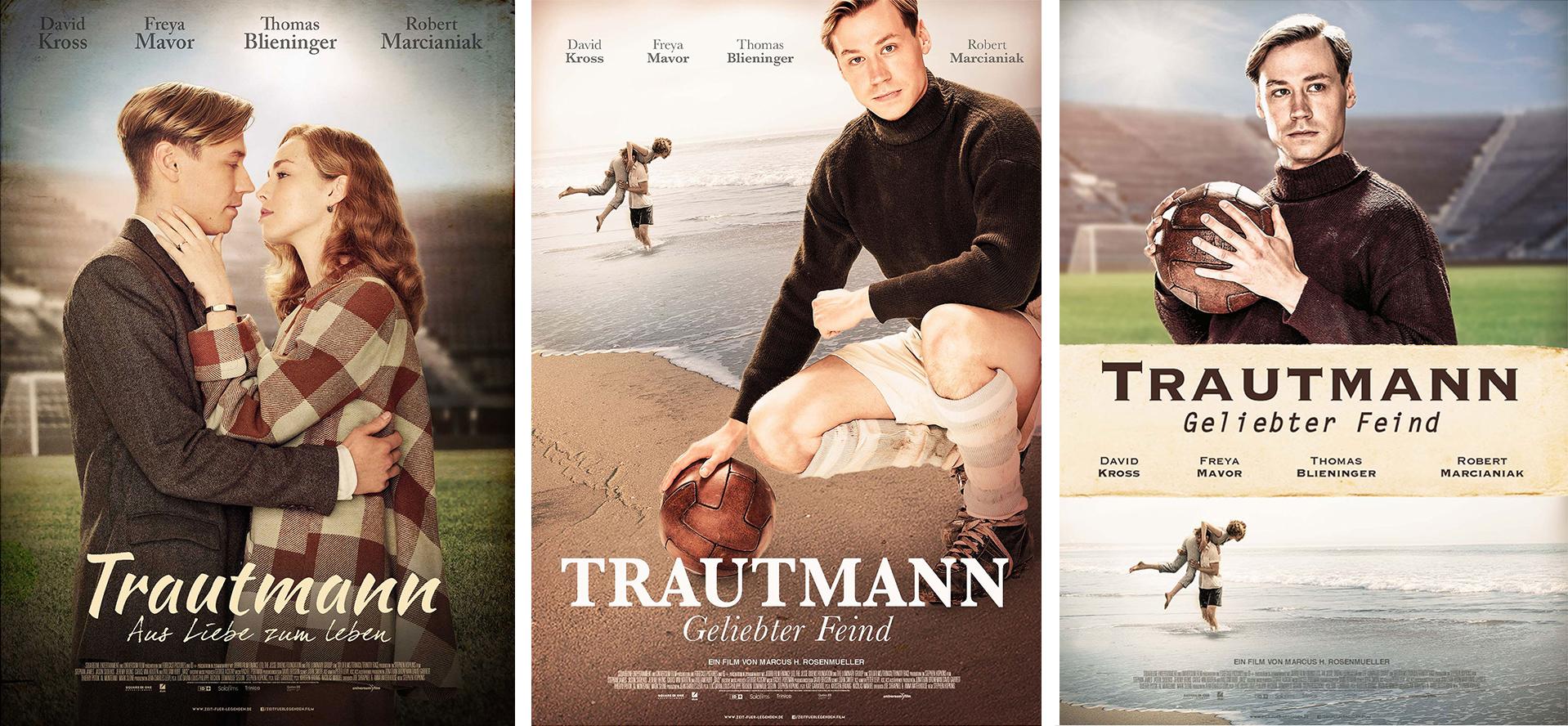 """Affiche du film allemand """"Trautman"""" - propositions non finales"""