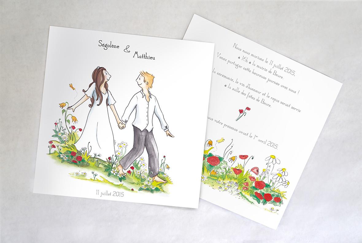 Illustration et design - Faire-part de mariage