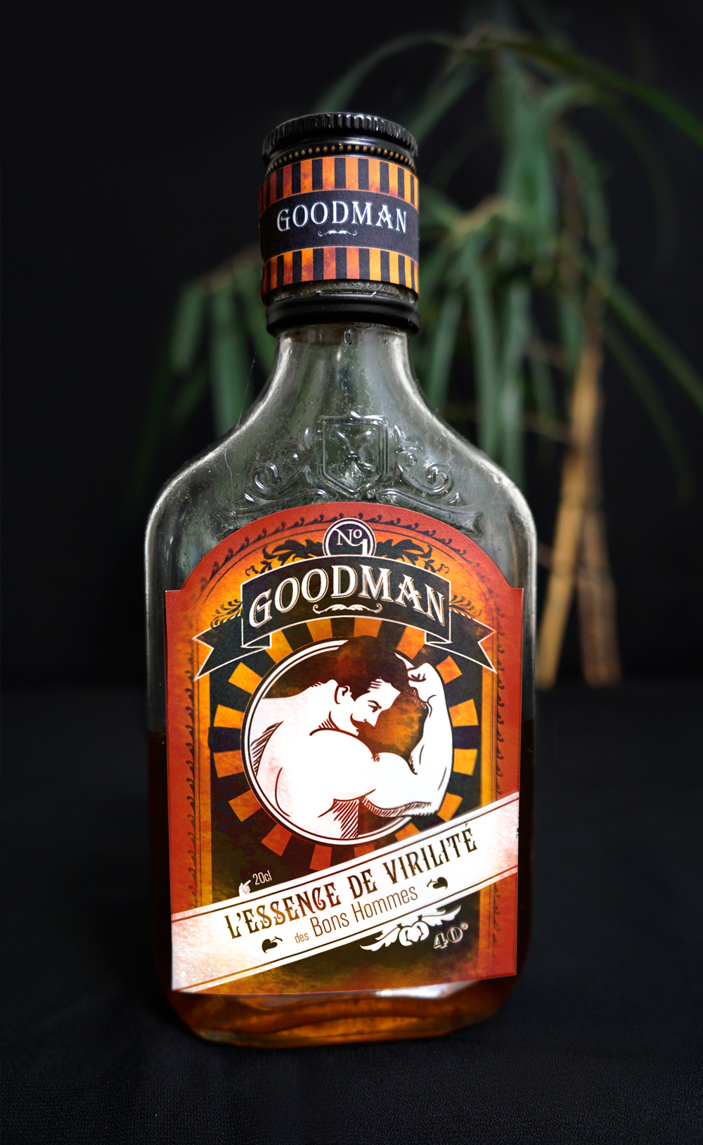 Design étiquette de rhum - Goodman
