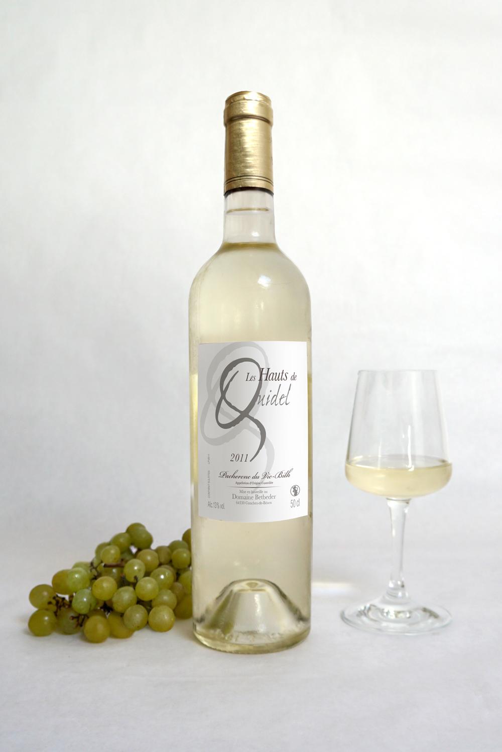 Design étiquette de vin - Les hauts de Quidel, domaine begbeder