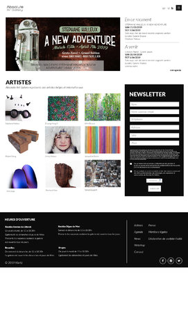 Site internet Absolute Art Gallery