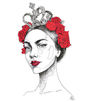 Dolce & Gabbana roses crown