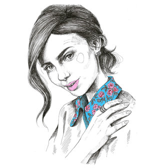 Lily Collins illustration