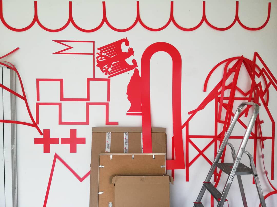 Travail Préparation de l'exposition à  l'atelier - Olivier ROCHEAU