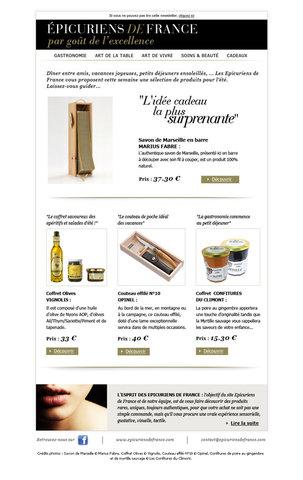 Epicuriens de France e-mailing