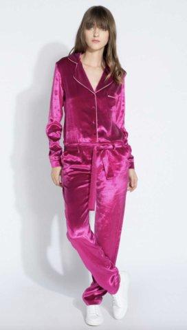 Combi-pantalon syle pyjamas en velours