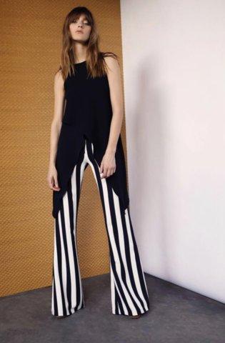 Pantalon pattes d'éph rayé