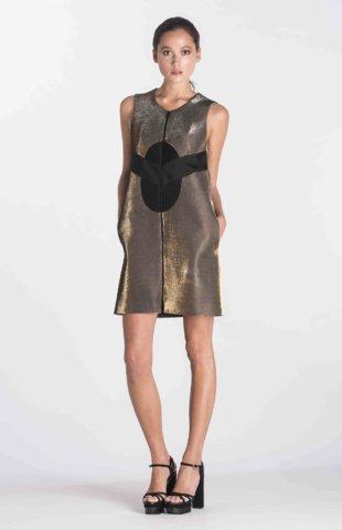 Robe zippée Néoprène et tissu méche