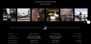 Footer avec un slideshow des dernières images du compte instagram