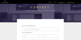 Partie contact avec formulaire