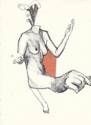 sans titre, 2016, stylo et crayon couleur sur papier,  26,7x19,5 cm