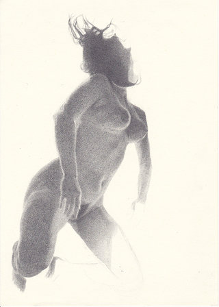 sans titre, 2016, crayon sur papier, 26,9x19,1 cm