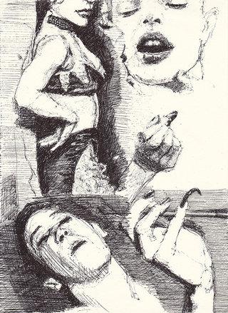 sans titre, 2016, stylo sur papier, 26,9x19,1 cm