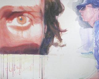 """""""holidays"""", 2010, acrylique sur toile, 65x81 cm"""