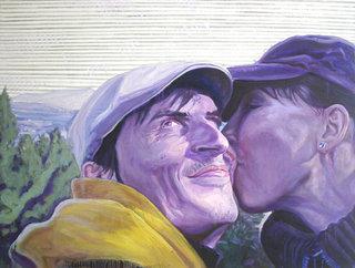 La nymphe et le satyre, 2007, huile sur toile, 97x130 cm