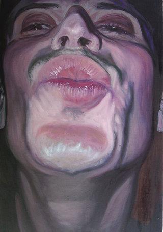 Gueule III, 2006, huile sur toile, 150x97 cm