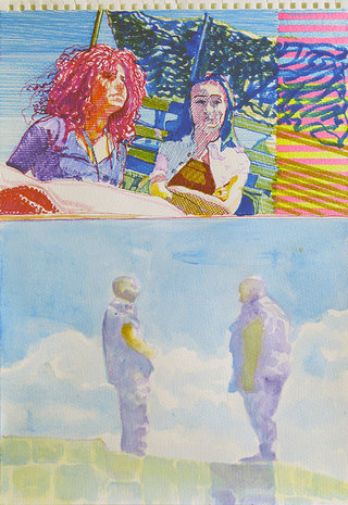 United Colors of World 2, 2009, aquarelle et feutre sur papier, 38x26,3 cm
