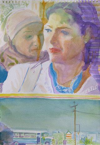 United Colors of World 3, 2009, aquarelle sur papier, 38x26,3 cm
