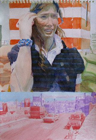 United Colors of World 6, 2009, aquarelle sur papier, 38x26,3 cm