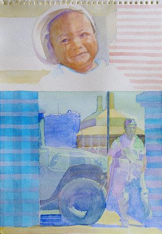 United Colors of World 7, 2009, aquarelle sur papier, 38x26,3 cm
