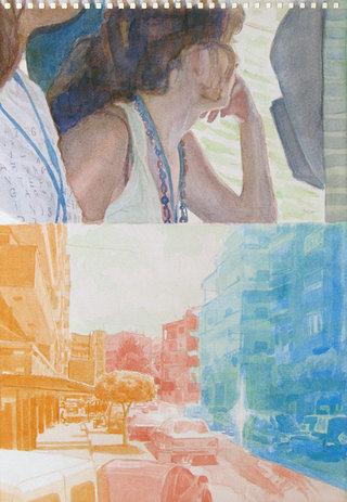 United Colors of World 8, 2009, aquarelle sur papier, 38x26,3 cm
